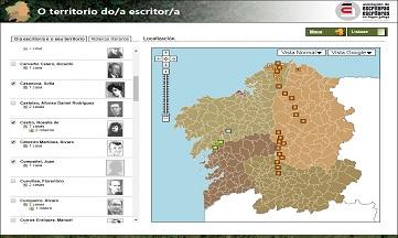 El territorio de los escritores gallegos