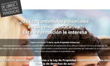 Campaña informativa sobre derechos de autor en centros adscritos