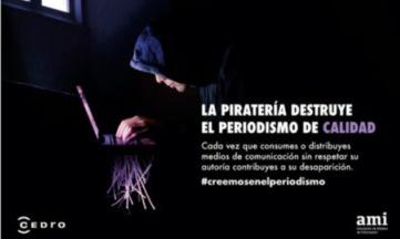 Campaña contra la piratería digital de periódicos