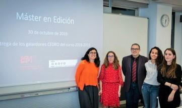 Premios a los mejores proyectos del Máster en Edición de la Pompeu Fabra
