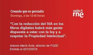 IVA reducido para libros digitales
