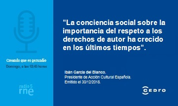 Acción Cultural Española y los derechos de autor