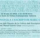 XXV Premios de la Crítica de los Escritores Valencianos