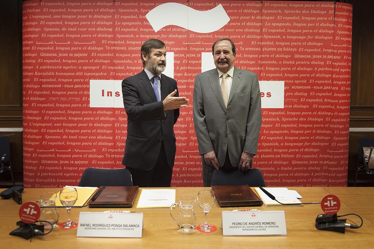 El Instituto Cervantes y CEDRO colaborarán en la promoción del respeto a la propiedad intelectual de los autores y editores españoles